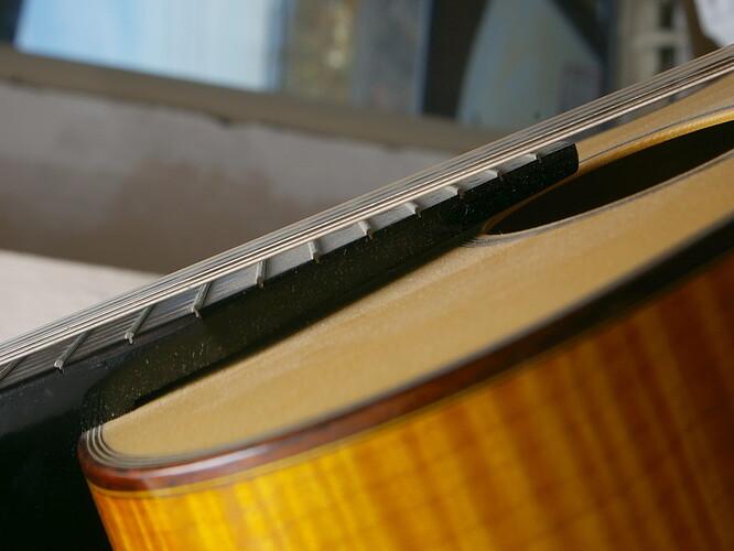 Fingerboard Above Top