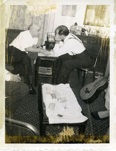 Jack Chalikias and Thanasis Athanasiou (Alex Panos Archive, courtesy of Aydin Chaloupka)